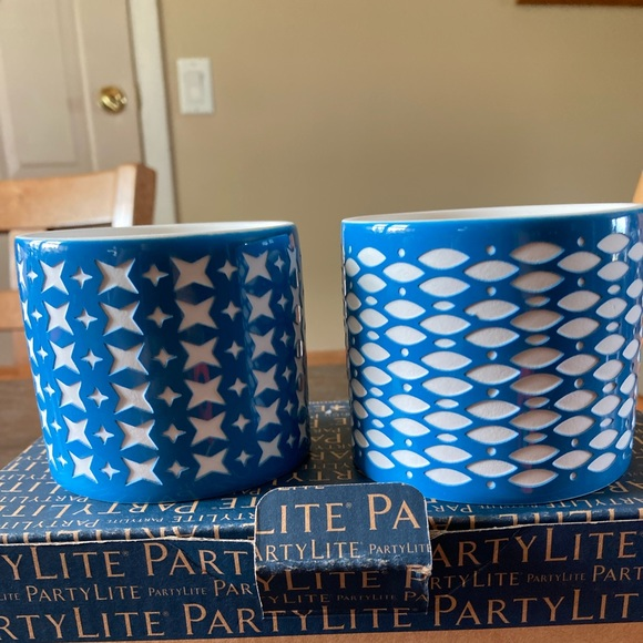 NIB PartyLite Grecian Tealight  Pair Candle Holder